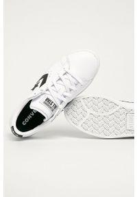 Białe buty sportowe Converse na obcasie, z cholewką