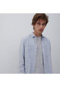 Reserved - Koszula męska - Niebieski. Kolor: niebieski