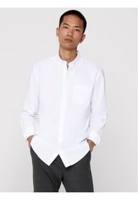 Only & Sons - ONLY & SONS Koszula Alvaro Life 22006479 Biały Slim Fit. Kolor: biały