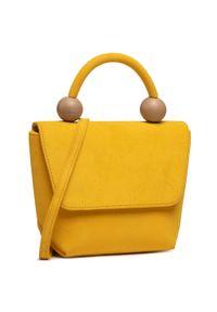 Żółta torebka klasyczna Unisa zamszowa