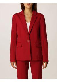 TwinSet - Czerwona marynarka Twinset. Kolor: czerwony. Materiał: wiskoza, poliamid, elastan. Długość rękawa: długi rękaw. Długość: długie #1