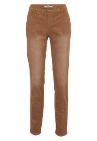 Brązowe spodnie bonprix