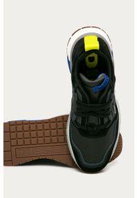 Czarne sneakersy Diesel na sznurówki, z cholewką