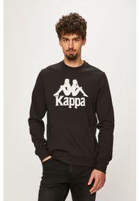 Czarna bluza nierozpinana Kappa z nadrukiem, bez kaptura