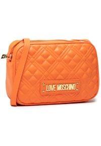 Love Moschino - Torebka LOVE MOSCHINO - JC4010PP0CLA0450 Arancio. Kolor: pomarańczowy. Materiał: skórzane