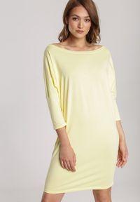 Żółta sukienka mini Renee