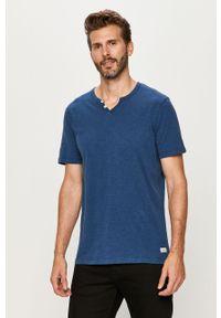 Niebieski t-shirt PRODUKT by Jack & Jones na co dzień, casualowy, krótki #4