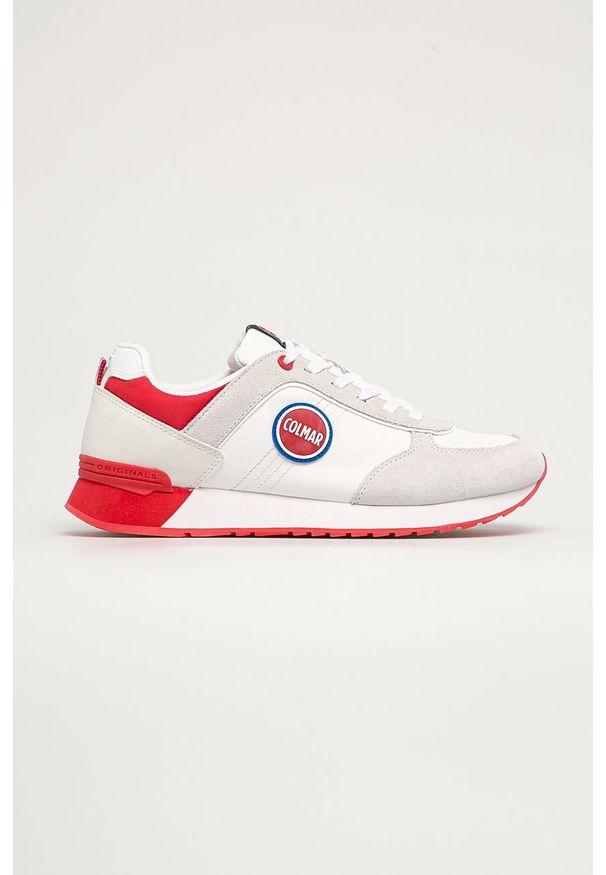 Colmar - Buty. Nosek buta: okrągły. Zapięcie: sznurówki. Kolor: biały. Materiał: guma, skóra ekologiczna, syntetyk, materiał, zamsz. Szerokość cholewki: normalna