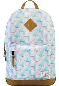 Incood Plecak szkolny Łuski błękitny. Kolor: niebieski