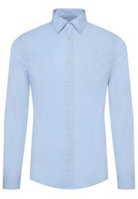 Niebieska koszula biznesowa Trussardi Jeans
