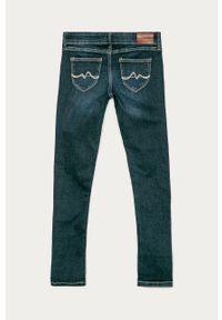 Niebieskie jeansy Pepe Jeans w kolorowe wzory