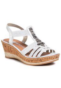 Srebrne sandały Remonte wizytowe