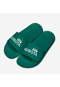 Zielone klapki Kubota na plażę