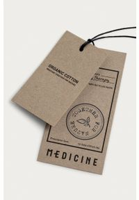 medicine - Medicine - T-shirt Basic. Kolor: czarny. Materiał: bawełna, dzianina, włókno. Wzór: gładki