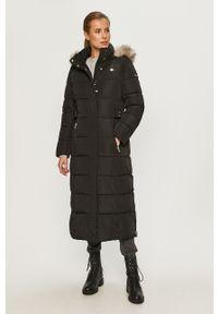 Czarna kurtka DKNY z kapturem, na co dzień, casualowa