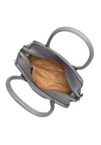 Wittchen - Torebka kuferek trzykomorowa. Kolor: szary. Materiał: skórzane. Styl: casual. Rodzaj torebki: na ramię
