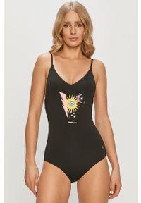 Czarny strój kąpielowy Femi Stories z nadrukiem