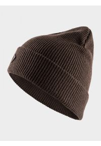 Brązowa czapka zimowa outhorn
