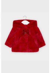 Czerwony płaszcz Mayoral casualowy, na co dzień, z kapturem