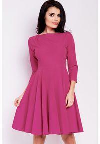 Infinite You - Elegancka sukienka z rozkloszowanym dołem. Materiał: materiał, elastan. Typ sukienki: proste. Styl: elegancki