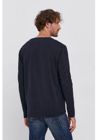 TOMMY HILFIGER - Tommy Hilfiger - Longsleeve. Okazja: na co dzień. Kolor: niebieski. Materiał: bawełna, dzianina. Długość rękawa: długi rękaw. Wzór: gładki. Styl: casual