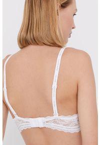Biały biustonosz Calvin Klein Underwear z fiszbinami, w koronkowe wzory