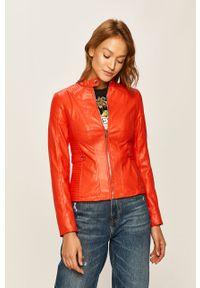Czerwona kurtka Guess Jeans bez kaptura