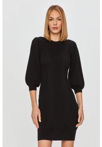 Czarna sukienka Guess Jeans na co dzień, prosta, mini