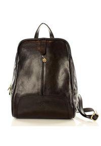 Vera pelle - Czarny Skórzany Plecak MAZZINI. Kolor: czarny. Materiał: skóra