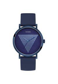Niebieski zegarek Guess elegancki