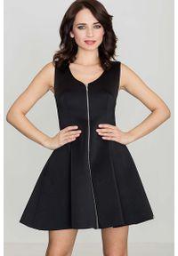 Czarna sukienka rozkloszowana Katrus bez rękawów