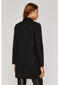Czarny płaszcz medicine klasyczny, z klasycznym kołnierzykiem