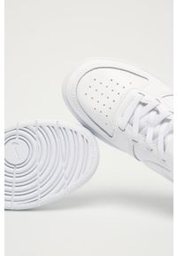 Białe buty sportowe Nike Kids z okrągłym noskiem, Nike Court