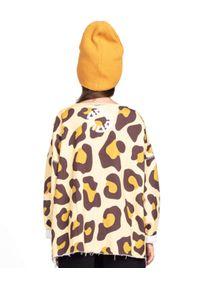 ROBERT KUPISZ - Żółta bluza Kids Crazy Bull. Kolor: żółty. Materiał: bawełna. Wzór: motyw zwierzęcy, aplikacja, nadruk