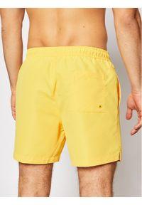 Calvin Klein Swimwear Szorty kąpielowe Medium Drawstring KM0KM00570 Żółty Regular Fit. Kolor: żółty #4