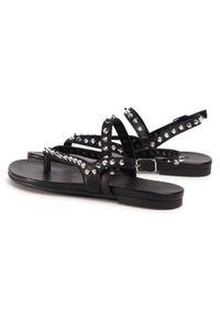 Czarne sandały Inuovo na co dzień, z aplikacjami, casualowe