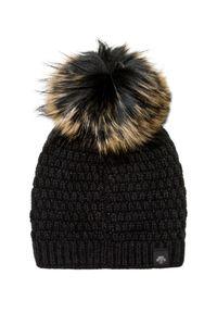 Czarna czapka Descente na zimę