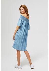 Niebieska sukienka MOODO