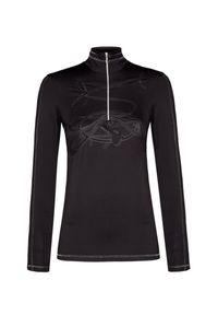 Czarny sweter Sportalm na zimę, z aplikacjami, sportowy, z golfem