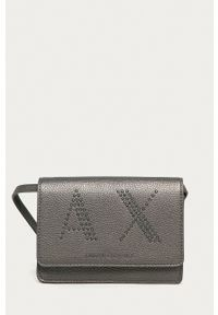 Armani Exchange - Torebka. Kolor: szary. Rodzaj torebki: na ramię