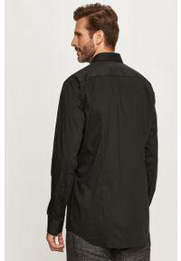 Czarna koszula Hugo elegancka, z długim rękawem, na co dzień