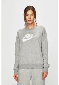 Nike Sportswear - Bluza. Okazja: na co dzień. Kolor: szary. Długość rękawa: raglanowy rękaw. Wzór: nadruk. Styl: casual