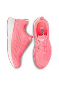 Różowe buty do fitnessu skechers z cholewką