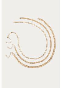 Złoty naszyjnik Pieces z mosiądzu