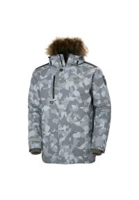 Kurtka z ociepliną Helly Hansen Svalbard Parka M53150. Typ kołnierza: kaptur. Materiał: futro, materiał, syntetyk. Technologia: Primaloft. Sezon: zima