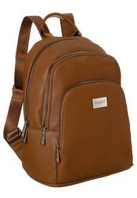 DAVID JONES - Plecak damski koniakowy David Jones CM6044A CONIAC. Materiał: skóra ekologiczna