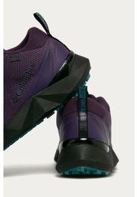 Fioletowe sneakersy columbia z cholewką, na sznurówki, z okrągłym noskiem