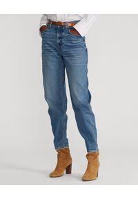 Ralph Lauren - RALPH LAUREN - Jeansy z luźnymi nogawkami. Stan: podwyższony. Kolor: niebieski