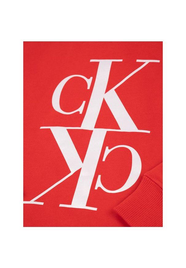 Czerwona sukienka Calvin Klein Jeans prosta, na co dzień, casualowa