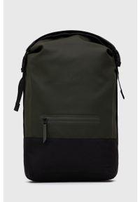 Rains - Plecak 1372 Buckle Rolltop Rucksack. Kolor: zielony